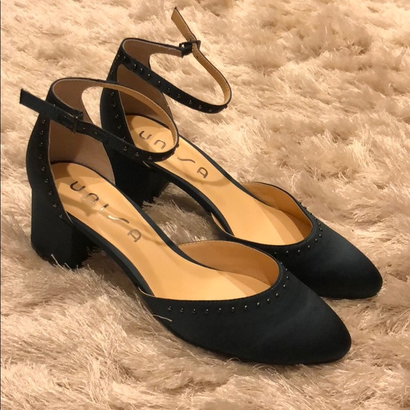 c4774d2f4 Unisa Shoes | Dark Green Satin Claudi Heel | Poshmark